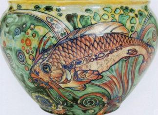 Galileo Chini_Cache pot con pesci