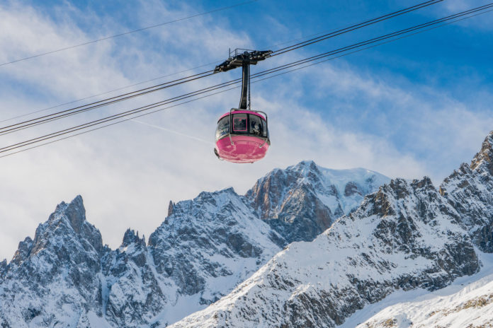 Cabina Rosa SKYWAY MONTE BIANCO