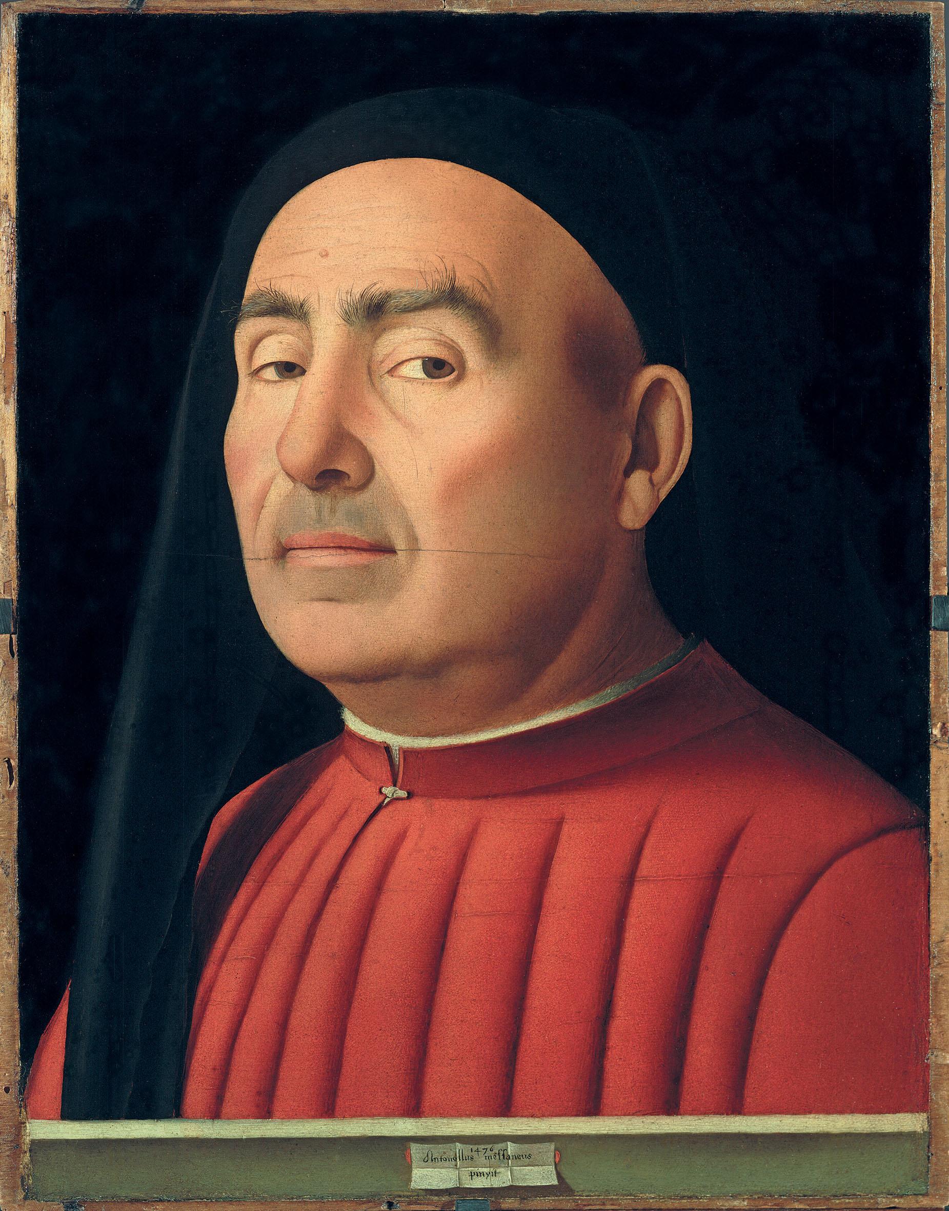 Antonello da Messina Ritratto d'uomo Palazzo Madama Torino