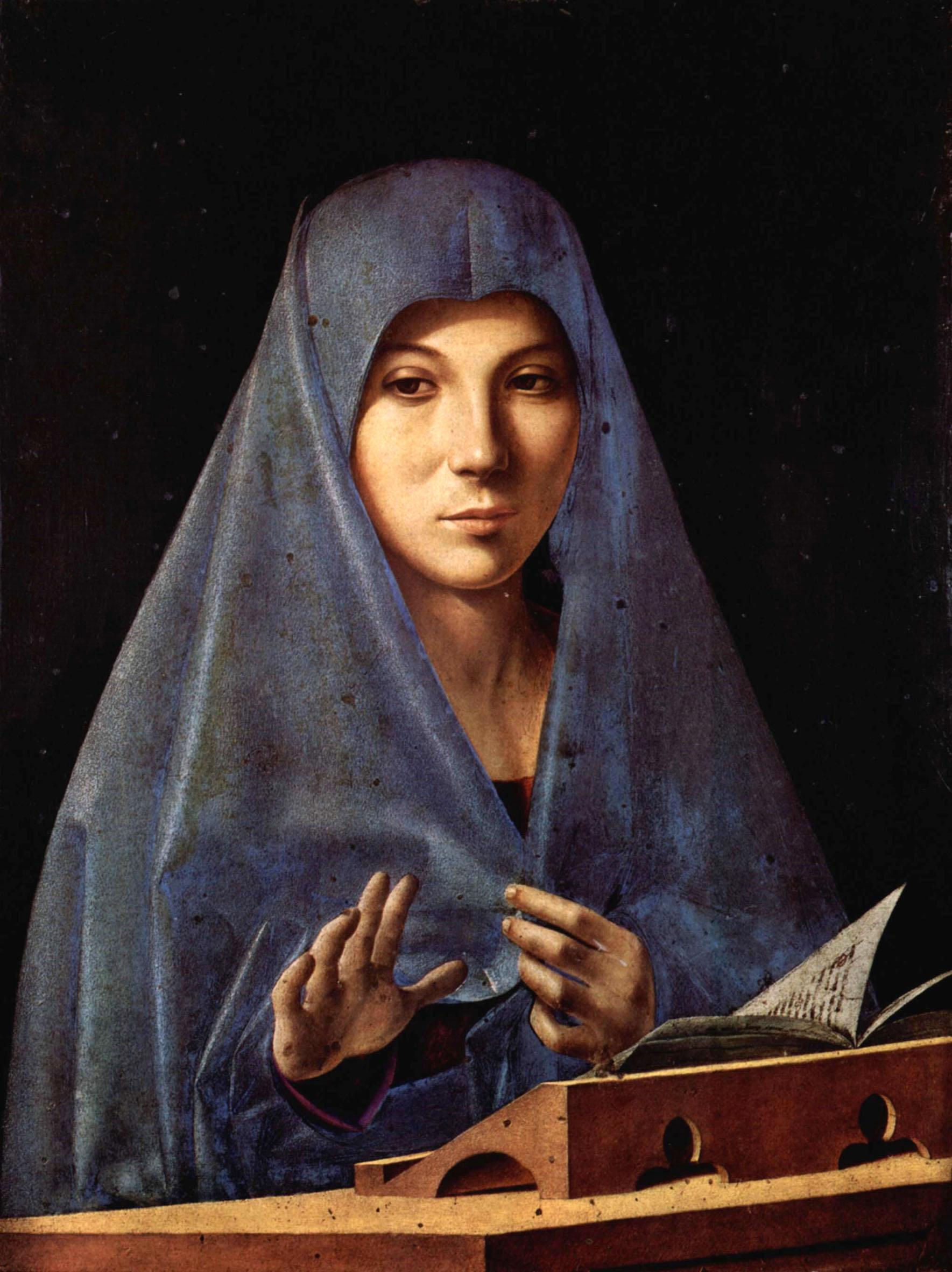 Antonello da Messina Annunciata Galleria Regionale Sicilia Palazzo Abatellis Palermo
