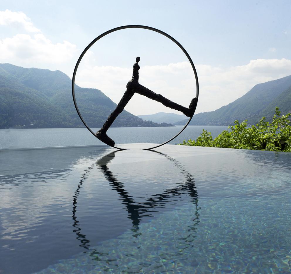 Nathalie Decoster Temps qui passe - Villa Lario - Lac de Come - 2016