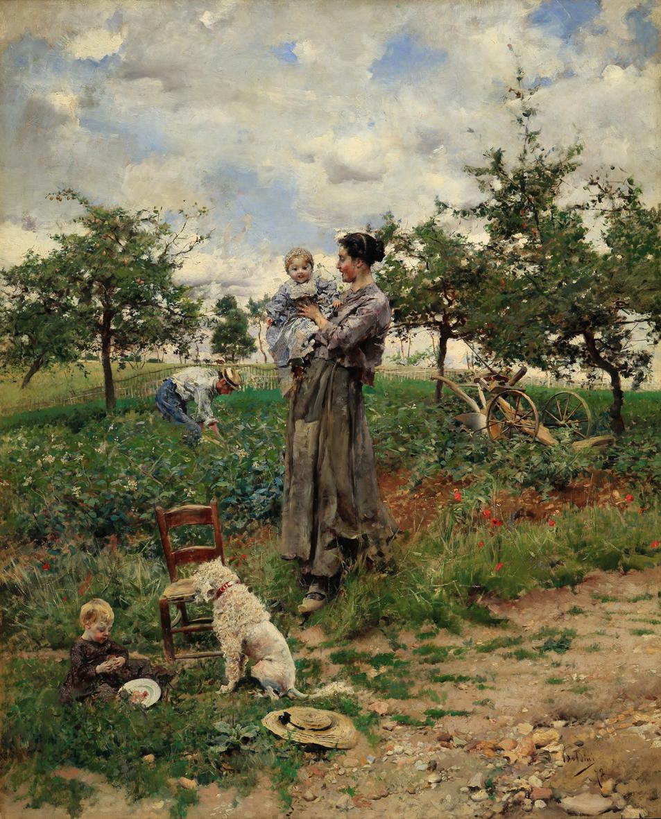 Boldini Giovannii_A la campagne_1872_olio su tavola_67 X 54,5
