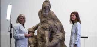 presentazione dell'inizio del restauro della Pietà di Michelangelo
