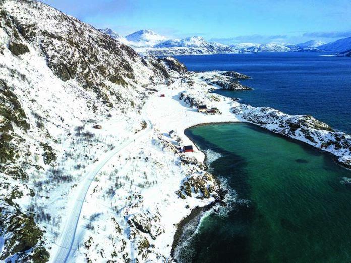 Norvegia isola di Vengsoy e di Kvaloya