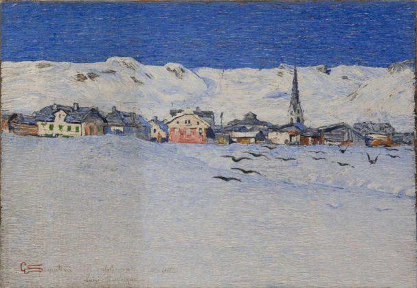 Divisionismo - Giovanni Segantini, Savognino sotto la neve