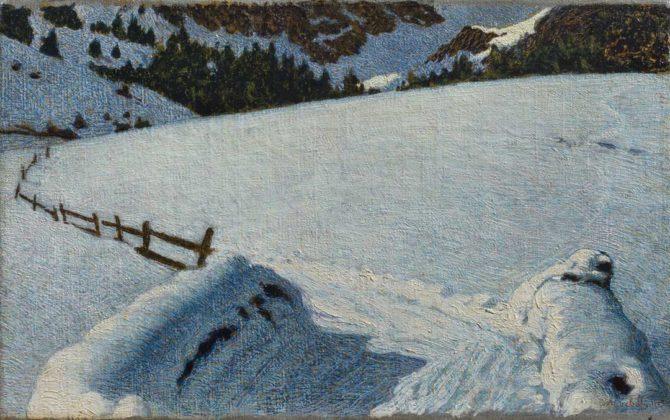 Divisionismo - Angelo Morbelli, Neve