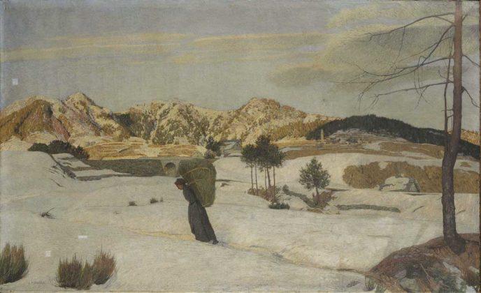 Divisionismo - Carlo Fornara, Vespero d'inverno