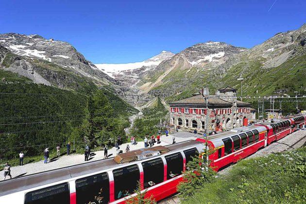 Trenino rosso svzzero Bernina Express